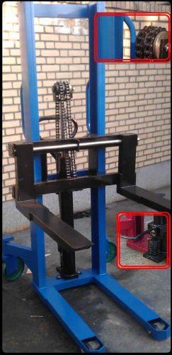 لیفتراک یک تن با پدال پا ساخت شرکت ایران یدک