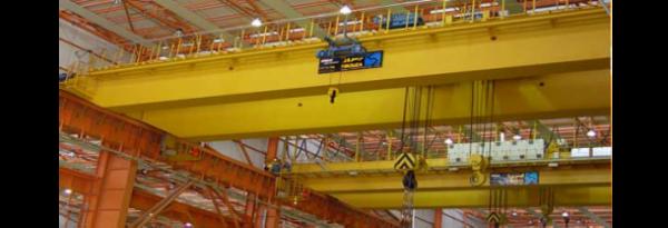 جرثقیل های سقفی دوپل ساخت شرکت مهندسی فیروزا